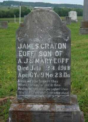 EOFF, JAMES CRATON - Boone County, Arkansas   JAMES CRATON EOFF - Arkansas Gravestone Photos