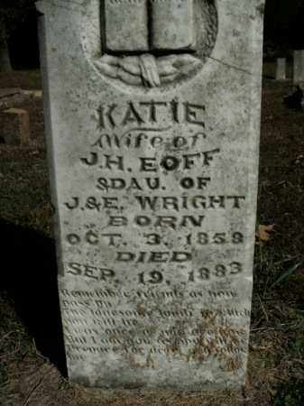 EOFF, KATIE - Boone County, Arkansas | KATIE EOFF - Arkansas Gravestone Photos