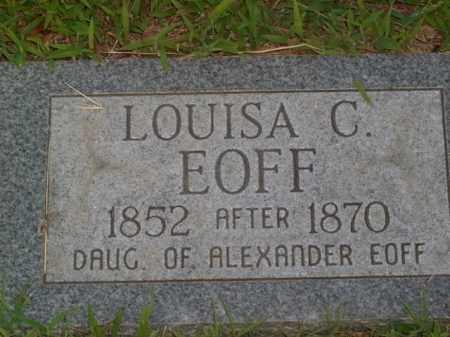 EOFF, LOUISA C. - Boone County, Arkansas   LOUISA C. EOFF - Arkansas Gravestone Photos