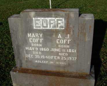 EOFF, MARY DULEINA - Boone County, Arkansas | MARY DULEINA EOFF - Arkansas Gravestone Photos