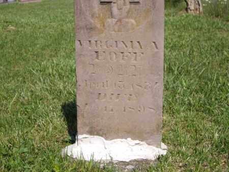 EOFF, VIRGINIA A. - Boone County, Arkansas | VIRGINIA A. EOFF - Arkansas Gravestone Photos