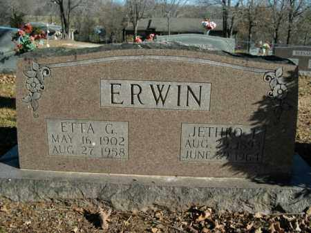ERWIN, ETTA GERTRUDE - Boone County, Arkansas   ETTA GERTRUDE ERWIN - Arkansas Gravestone Photos
