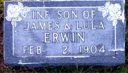 ERWIN, INFANT SON - Boone County, Arkansas | INFANT SON ERWIN - Arkansas Gravestone Photos