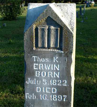 ERWIN, THOMAS  KENNEDY - Boone County, Arkansas | THOMAS  KENNEDY ERWIN - Arkansas Gravestone Photos