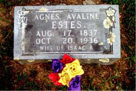 ESTES, AGNES AVALINE - Boone County, Arkansas   AGNES AVALINE ESTES - Arkansas Gravestone Photos