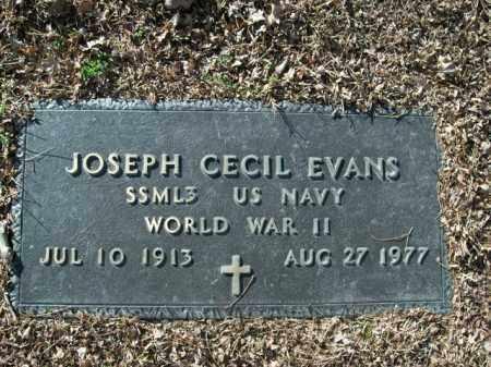 EVANS  (VETERAN WWII), JOSEPH CECIL - Boone County, Arkansas   JOSEPH CECIL EVANS  (VETERAN WWII) - Arkansas Gravestone Photos