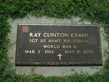 EVANS  (VETERAN WWII), RAY CLINTON - Boone County, Arkansas   RAY CLINTON EVANS  (VETERAN WWII) - Arkansas Gravestone Photos