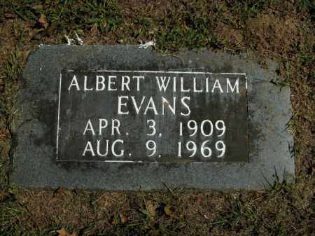 EVANS, ALBERT WILLIAM - Boone County, Arkansas | ALBERT WILLIAM EVANS - Arkansas Gravestone Photos