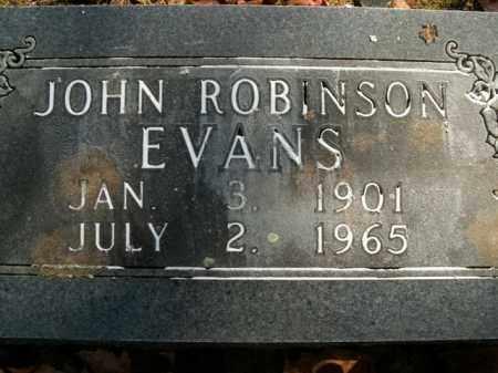 EVANS, JOHN ROBINSON - Boone County, Arkansas | JOHN ROBINSON EVANS - Arkansas Gravestone Photos