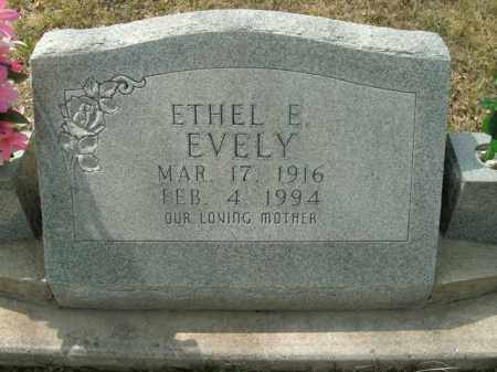 EVELY, ETHEL E - Boone County, Arkansas | ETHEL E EVELY - Arkansas Gravestone Photos