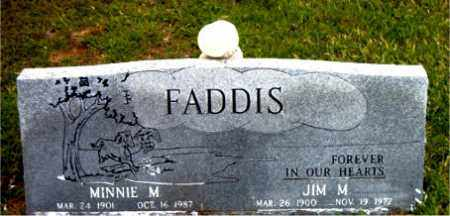 FADDIS, JIM  M - Boone County, Arkansas | JIM  M FADDIS - Arkansas Gravestone Photos