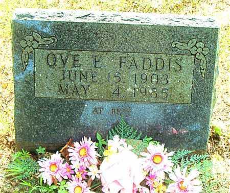 FADDIS, OVE E. - Boone County, Arkansas   OVE E. FADDIS - Arkansas Gravestone Photos