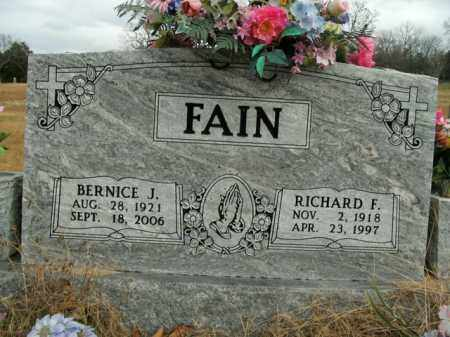 FAIN, RICHARD FARRIS - Boone County, Arkansas   RICHARD FARRIS FAIN - Arkansas Gravestone Photos