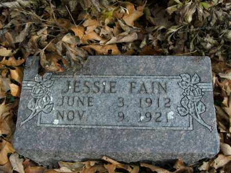 FAIN, JESSIE - Boone County, Arkansas | JESSIE FAIN - Arkansas Gravestone Photos