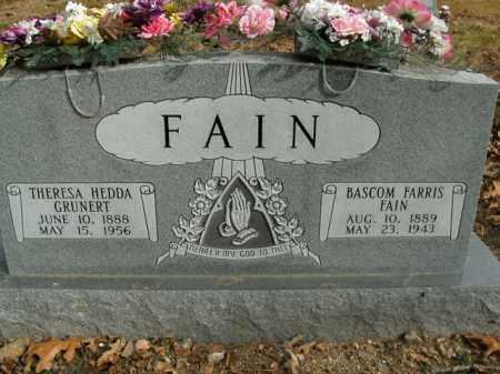 GRUNERT FAIN, THERESA HEDDA - Boone County, Arkansas | THERESA HEDDA GRUNERT FAIN - Arkansas Gravestone Photos