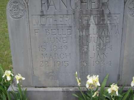 FANCHER, WILLIAM ALEX - Boone County, Arkansas   WILLIAM ALEX FANCHER - Arkansas Gravestone Photos