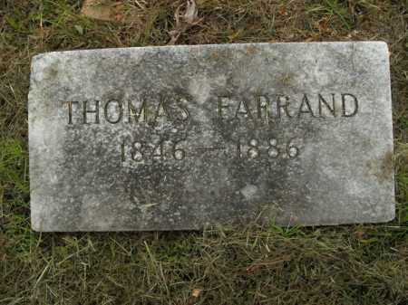 FARRAND, THOMAS - Boone County, Arkansas | THOMAS FARRAND - Arkansas Gravestone Photos