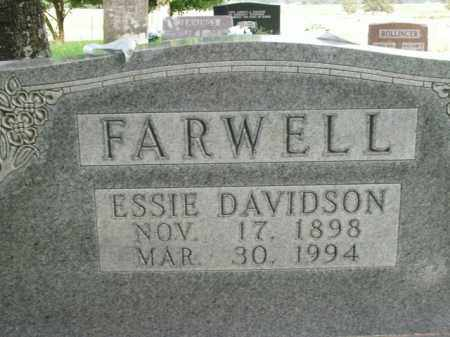 DAVIDSON FARWELL, ESSIE - Boone County, Arkansas | ESSIE DAVIDSON FARWELL - Arkansas Gravestone Photos