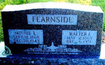 FEARNSIDE, WALTER ISAAC - Boone County, Arkansas | WALTER ISAAC FEARNSIDE - Arkansas Gravestone Photos