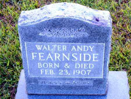 FEARNSIDE, WALTER ANDY - Boone County, Arkansas | WALTER ANDY FEARNSIDE - Arkansas Gravestone Photos