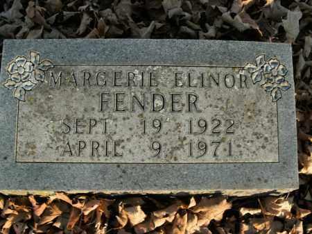 FENDER, MARGERIE ELINOR - Boone County, Arkansas   MARGERIE ELINOR FENDER - Arkansas Gravestone Photos