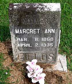 FIELDS, MARGRET ANN - Boone County, Arkansas | MARGRET ANN FIELDS - Arkansas Gravestone Photos