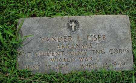FISER  (VETERAN WWI), VANDER L. - Boone County, Arkansas | VANDER L. FISER  (VETERAN WWI) - Arkansas Gravestone Photos