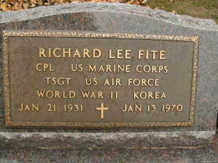 FITE  (VETERAN 2 WARS), RICHARD LEE - Boone County, Arkansas | RICHARD LEE FITE  (VETERAN 2 WARS) - Arkansas Gravestone Photos