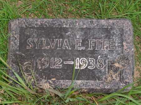 FITE, SYLVIA E. - Boone County, Arkansas | SYLVIA E. FITE - Arkansas Gravestone Photos