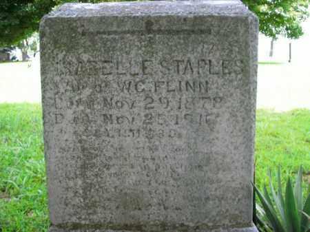 STAPLES FLINN, ISABELLE - Boone County, Arkansas | ISABELLE STAPLES FLINN - Arkansas Gravestone Photos