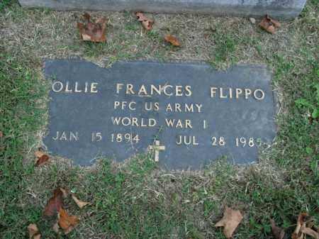 FLIPPO  (VETERAN WWI), OLLIE FRANCES - Boone County, Arkansas | OLLIE FRANCES FLIPPO  (VETERAN WWI) - Arkansas Gravestone Photos