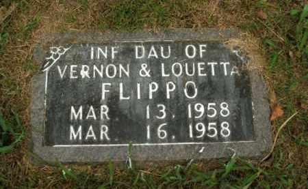 FLIPPO, INFANT DAUGHTER - Boone County, Arkansas | INFANT DAUGHTER FLIPPO - Arkansas Gravestone Photos