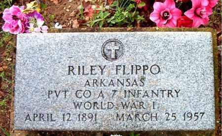 FLIPPO  (VETERAN WWI), RILEY - Boone County, Arkansas   RILEY FLIPPO  (VETERAN WWI) - Arkansas Gravestone Photos