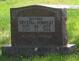 FORREST, CRYSTAL IRENE - Boone County, Arkansas | CRYSTAL IRENE FORREST - Arkansas Gravestone Photos