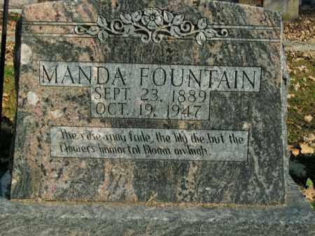 FOUNTAIN, MANDA - Boone County, Arkansas   MANDA FOUNTAIN - Arkansas Gravestone Photos