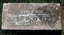 FOX, MARY B - Boone County, Arkansas | MARY B FOX - Arkansas Gravestone Photos