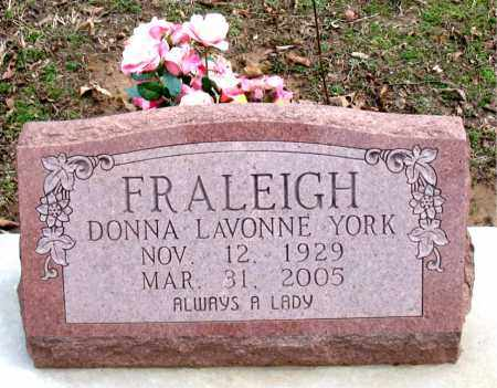 FRALEIGH, DONNA LAVONNE - Boone County, Arkansas | DONNA LAVONNE FRALEIGH - Arkansas Gravestone Photos
