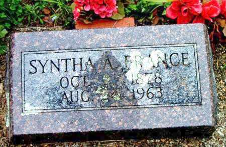 FRANCE, SYNTHA  A. - Boone County, Arkansas | SYNTHA  A. FRANCE - Arkansas Gravestone Photos