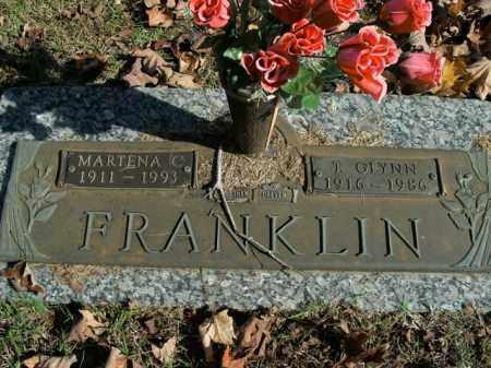 FRANKLIN, MARTENA C. - Boone County, Arkansas | MARTENA C. FRANKLIN - Arkansas Gravestone Photos