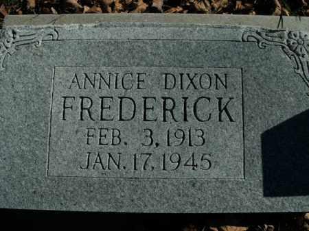 FREDERICK, ANNICE DIXON - Boone County, Arkansas | ANNICE DIXON FREDERICK - Arkansas Gravestone Photos