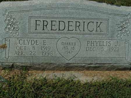 FREDERICK, CLYDE E. - Boone County, Arkansas   CLYDE E. FREDERICK - Arkansas Gravestone Photos
