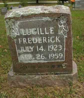 FREDERICK, LUCILLE - Boone County, Arkansas | LUCILLE FREDERICK - Arkansas Gravestone Photos