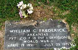 FREDERICK  (VETERAN WWI), WILLIAM C. - Boone County, Arkansas | WILLIAM C. FREDERICK  (VETERAN WWI) - Arkansas Gravestone Photos