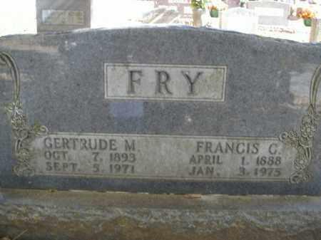 FRY, FRANCIS CHARLES - Boone County, Arkansas | FRANCIS CHARLES FRY - Arkansas Gravestone Photos