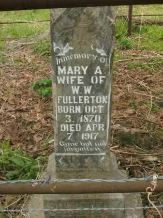 FULLERTON, MARY ANN - Boone County, Arkansas | MARY ANN FULLERTON - Arkansas Gravestone Photos