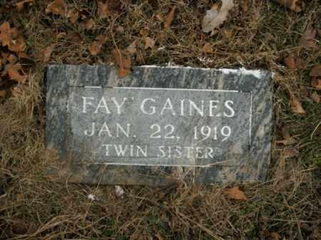 GAINES, FAY - Boone County, Arkansas | FAY GAINES - Arkansas Gravestone Photos