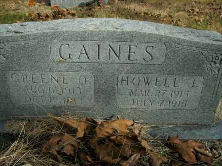 GAINES, GREENE O. - Boone County, Arkansas | GREENE O. GAINES - Arkansas Gravestone Photos