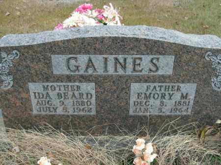 GAINES, EMORY MILAS - Boone County, Arkansas | EMORY MILAS GAINES - Arkansas Gravestone Photos