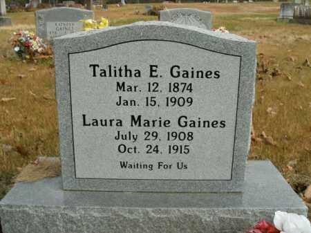 GAINES, LAURA MARIE - Boone County, Arkansas   LAURA MARIE GAINES - Arkansas Gravestone Photos