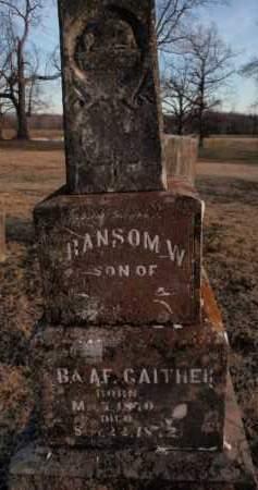 GAITHER, RANSOM W. - Boone County, Arkansas   RANSOM W. GAITHER - Arkansas Gravestone Photos